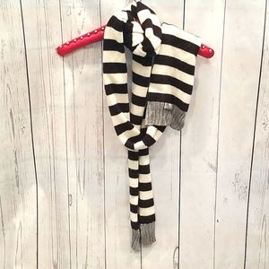 Kate Spade NY Black/White Striped Glitter Scarf!